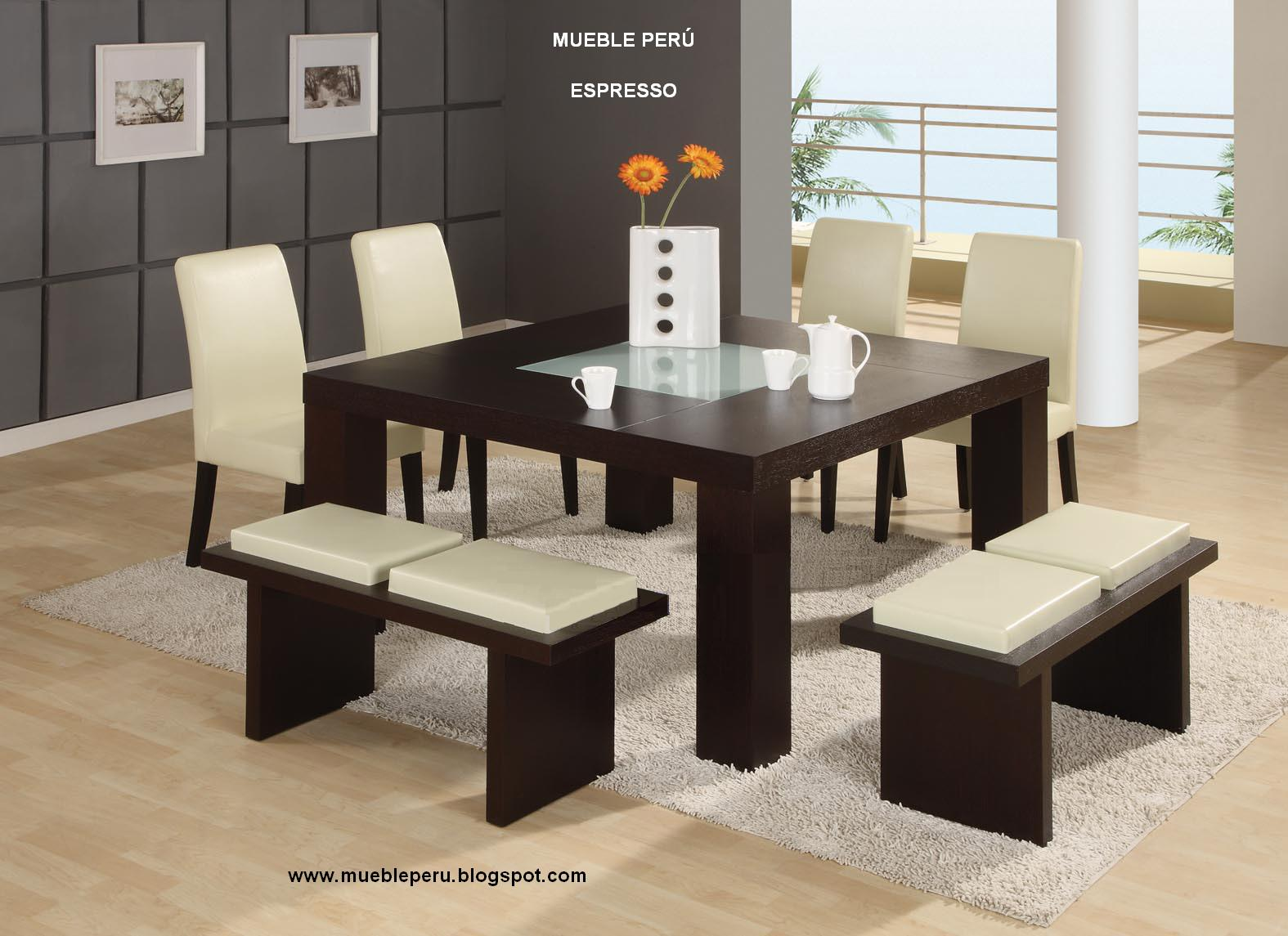 Muebles pegaso exclusivos y modernos comedores for Sillas altas modernas