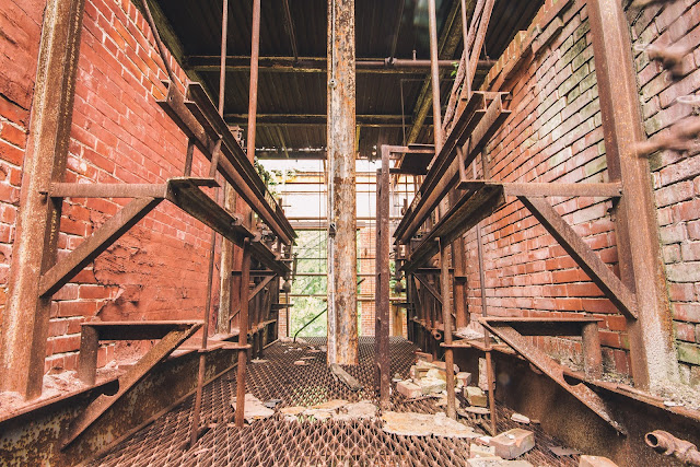 Rusted Factory Landing Platform