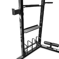 Weight storage rack & shelves on Marcy Olympic Strength Cage