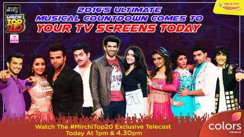 Poster Of Mirchi Top 20 2016 25th December 2016 400MB HDTV 576p Free Download Watch Online downloadhub.net