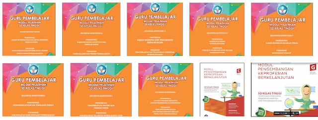 Download 10 Modul PKB Guru Pembelajar SD Kelas Tinggi KK-A Sampai KK-J, https://bloggoeroe.blogspot.com/