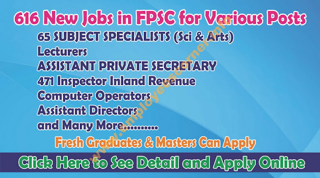 FPSC Jobs in Pakistan Apply Online