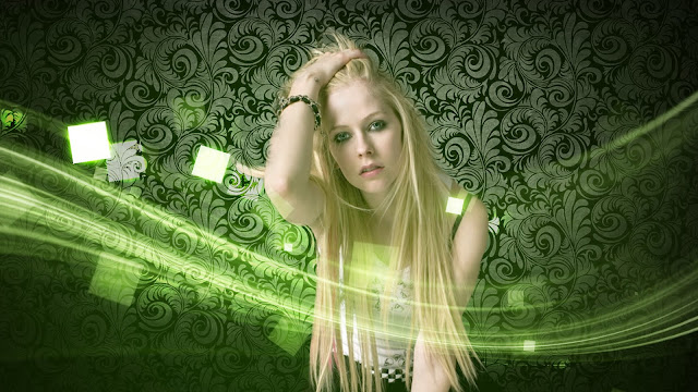 Avril Lavigne Wallpaper Dekstop Green Light