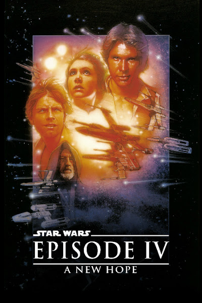 Poster of Star Wars Episode IV A New Hope 1977 Dual Audio 720p BluRay With ESubs