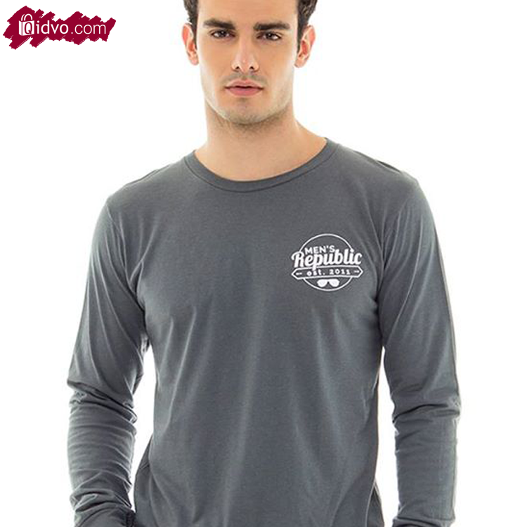Kaos Lengan Panjang Mens Republic Florida - Dark Grey