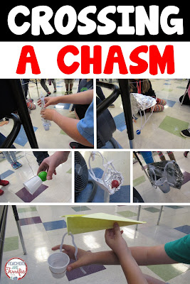 STEM Challenge: It's a real life challenge involving a rescue. Students build a device to cross a chasm powered only by wind! Wait until you hear the cheers when this one works! Awesome!