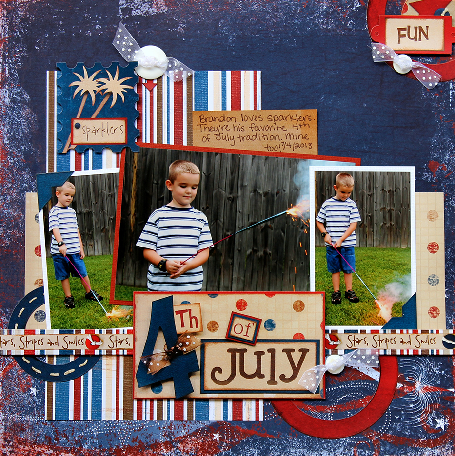 Miracles Momma Designs: 4th Of July: Scrapbook Page