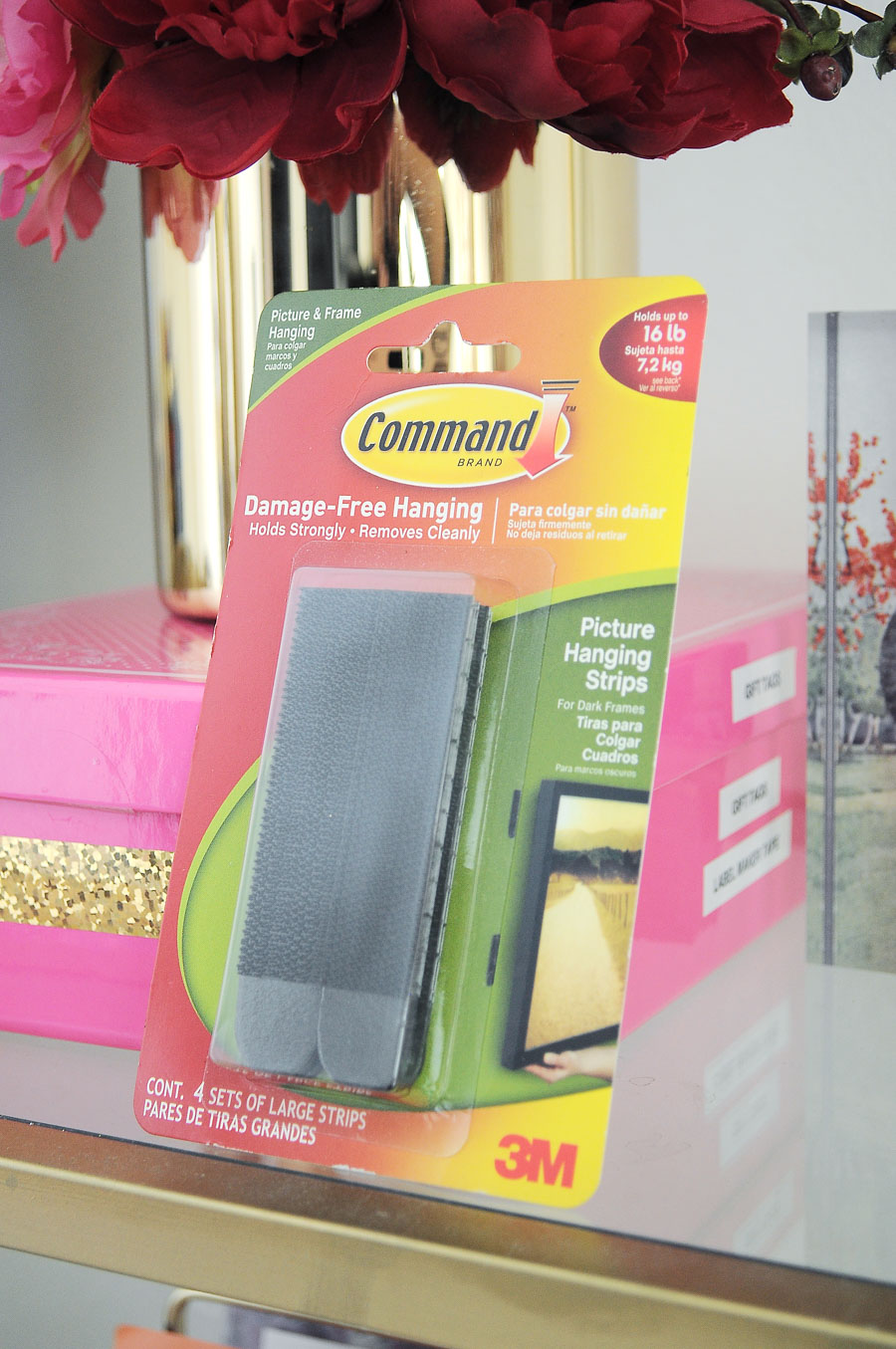 Tip: use Command Strips to hang cork boards to avoid putting holes in your wall. Perfect for renters!