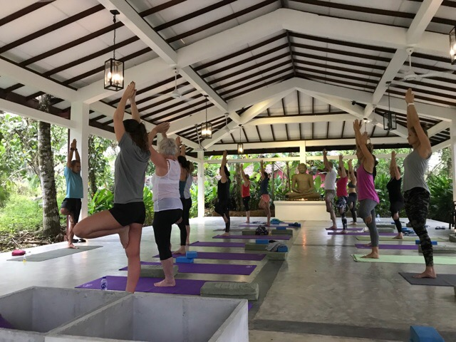 Yoga hall at Plantation Villa