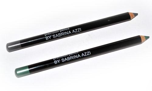 lapices de ojos para maquillaje verde y gris by sabrina azzi