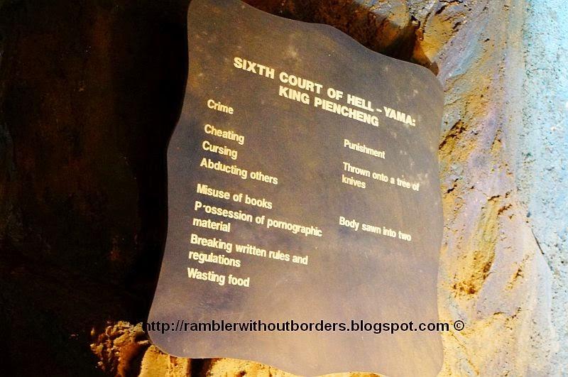 Crime and Punishment in the 6th Court, Haw Par Villa, Singapore