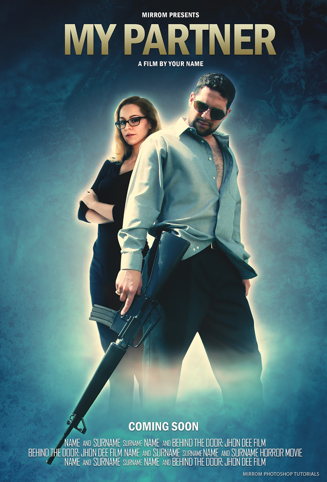 Make a My Partner Movie Poster In Photoshop