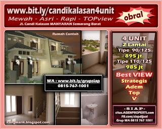 Obaral murah PERUMAHAN dijual di CANDI KALASAN Manyaran Semarang Barat bit.ly/candikalasan4unit