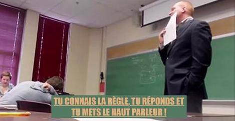 Le téléphone d'une élève sonne et le prof l'oblige à répondre devant tout le monde... Mais il le regrette très vite ! (Vidéo)