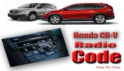 99 honda crv radio code