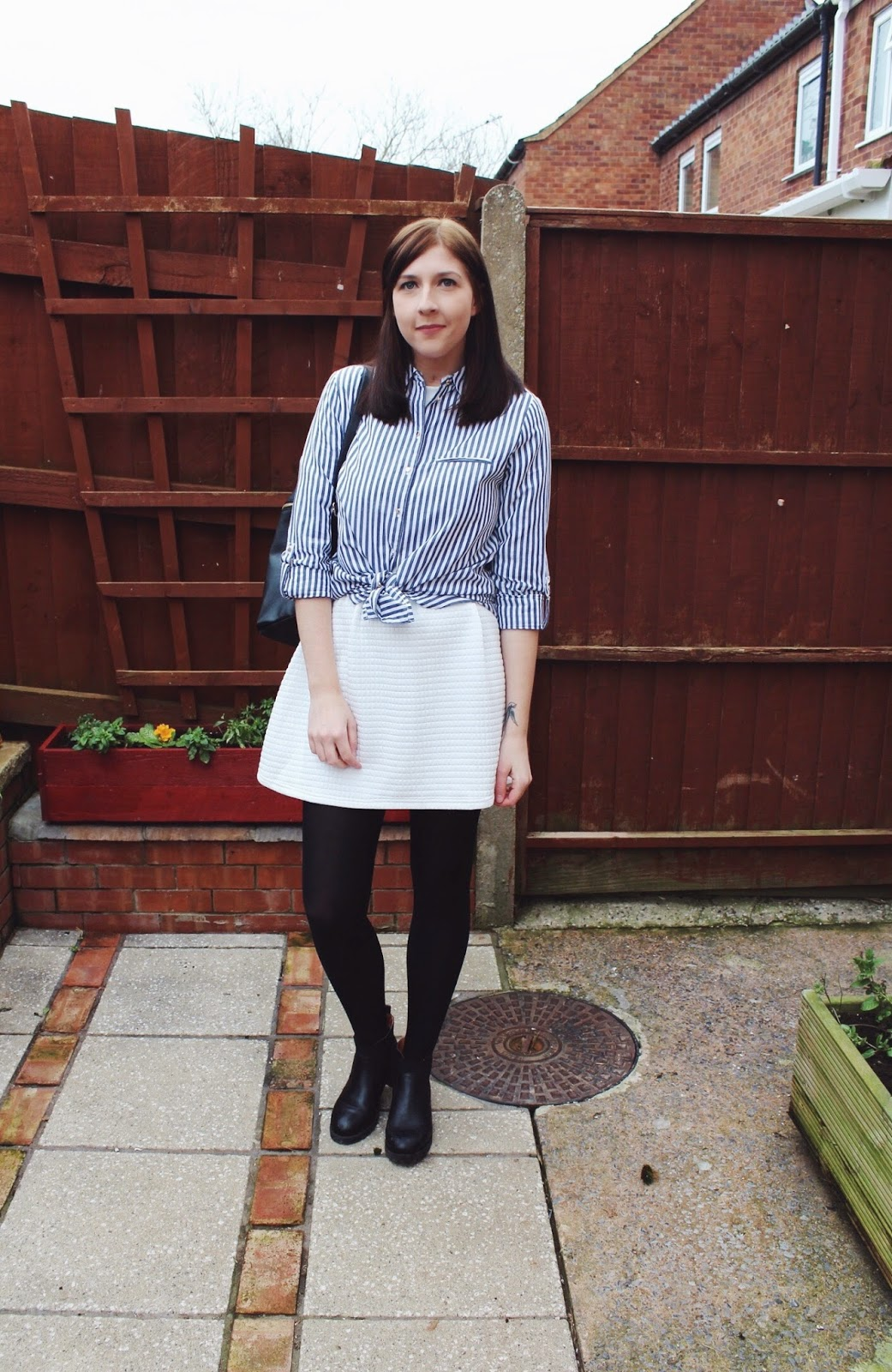 ASOS, asseenonme, fashion, fashionblogger, fashionbloggers, fblogger, fbloggers, halcyonvelvet, lookoftheday, lotd, whitedress, ootd, outfitoftheday, primark, riverisland, primark, stripedshirt, whatimwearing, wiw, rucksack