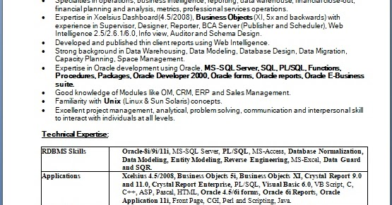 business operations analyst sample resume format in word