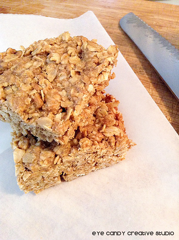 baking peanut butter granola bars, perfect snack idea, healthy eating