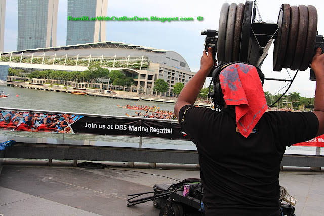 Video cameraman, DBS Marina Regatta, Singapore