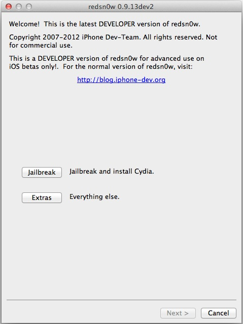 Download Redsn0w 0.9.13dev2 To Jailbreak iOS 6 Beta 2
