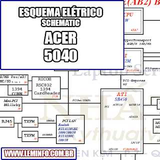 Esquema Elétrico Notebook ACER 5040 Laptop Manual de Serviço  Service Manual schematic Diagram Notebook ACER 5040 Laptop     Esquematico Notebook ACER 5040 Laptop