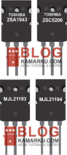 Transistor yang sering di pakai buat Power amplifier Lapangan dan Pasangan nya