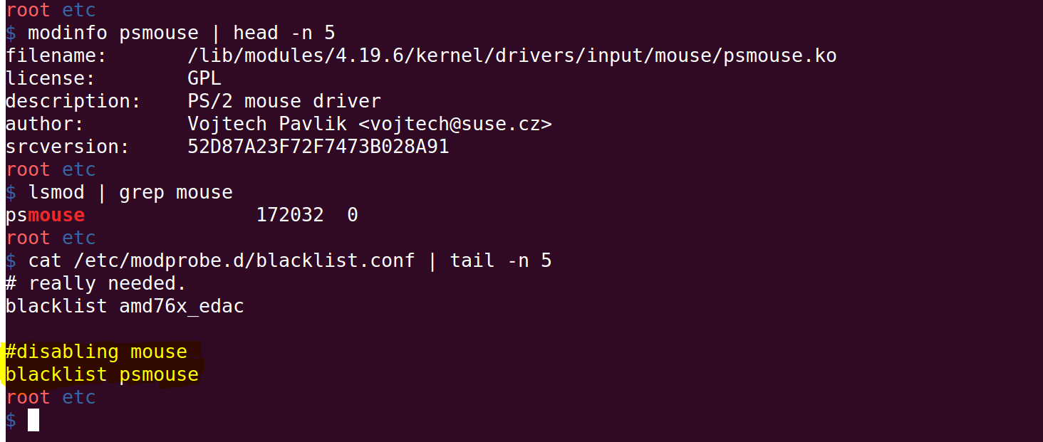 How to blacklist Linux Kernel Modules