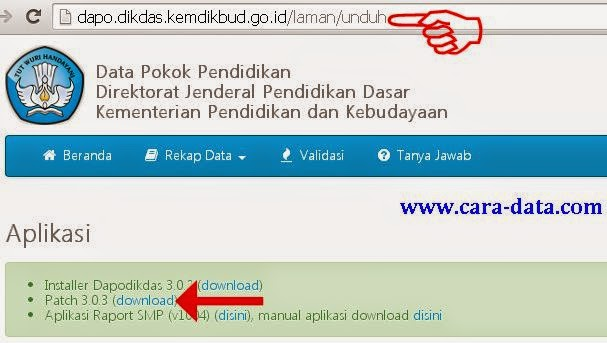 Download Patch Dapodikdas Versi 303