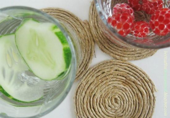 Kako lako napraviti podmetače za čaše od kanapa