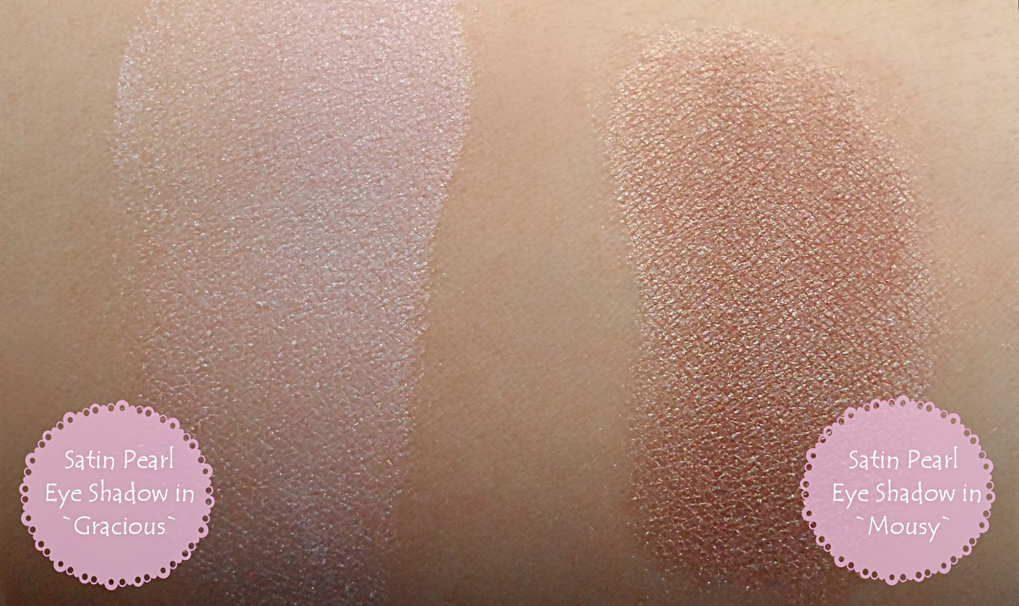 Buff`d Mineral eye shadows gracious mousy Review Swatches pictures samples