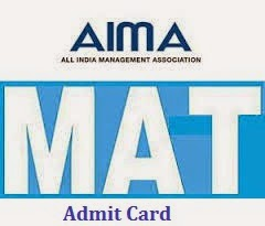 MAT Exam Admit Card May 2017 - www.aima.in