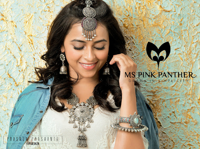Sri Divya Image For Ms Pink Panther Jewellery Ad