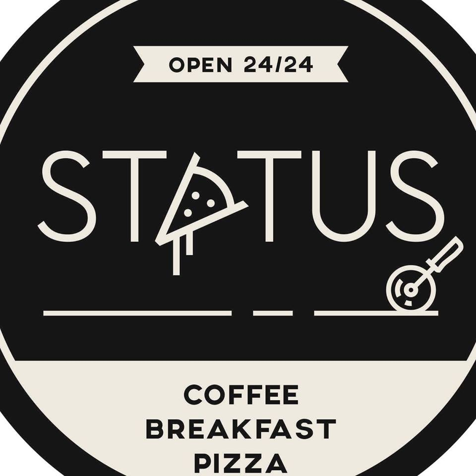 Status coffee breakfast pizza