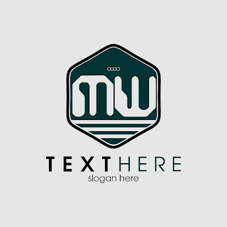 MW Letters Polygon Frame Logo Template Free Download Vector CDR, AI, EPS and PNG Formats