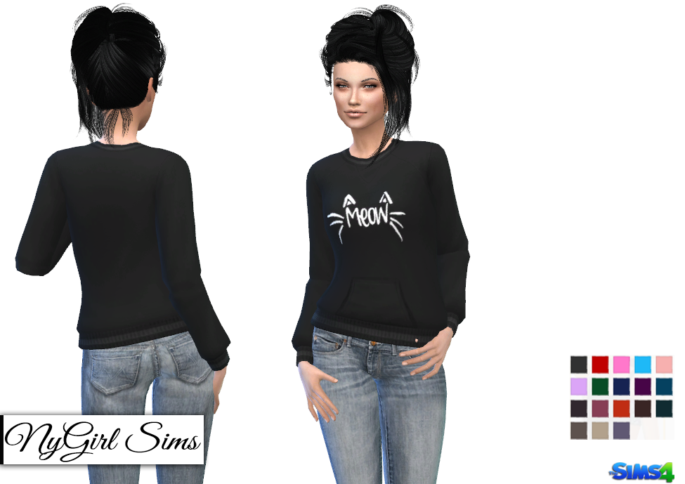 NyGirl Sims 4: Cat's Meow Sweater