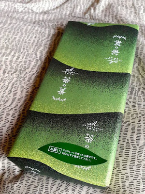 A box of Malebranche Green Tea Butter Cookies