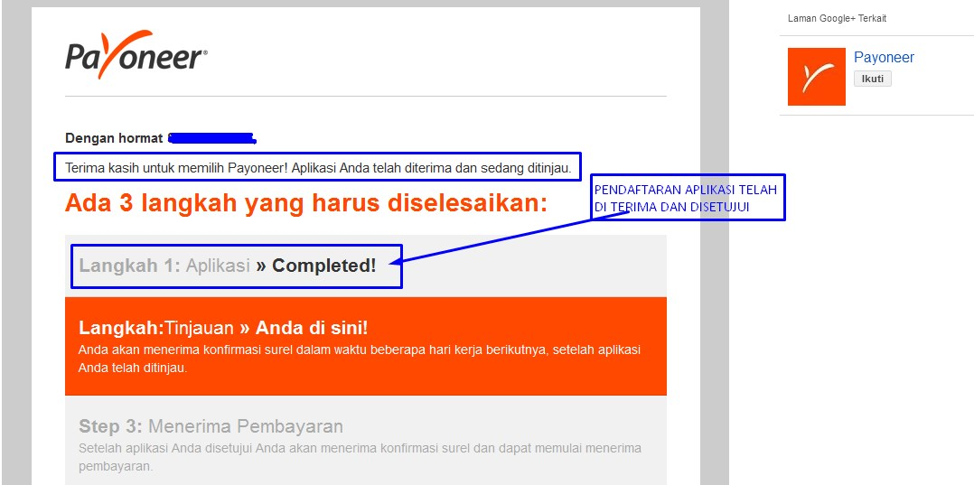email notifikasi aplikasi kartu payoneer