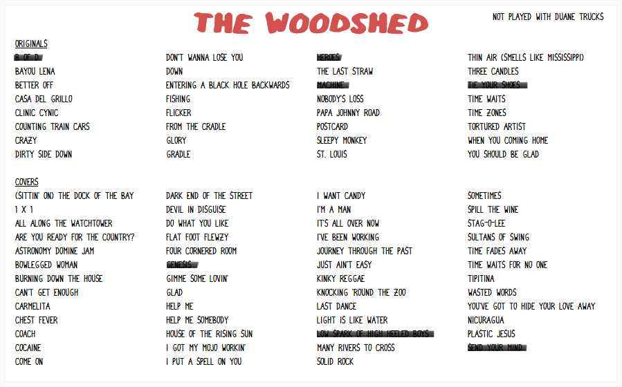 Lyric carmelita lyrics : Widespread Panic Setlists - 2017 Tour: WIDESPREAD PANIC 2015 ...