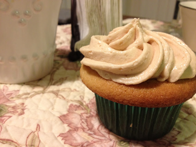 birthday salted caramel cupcake