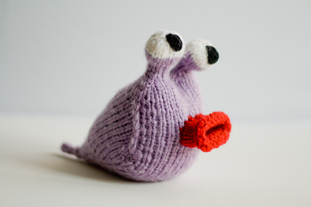 garden slug knitted