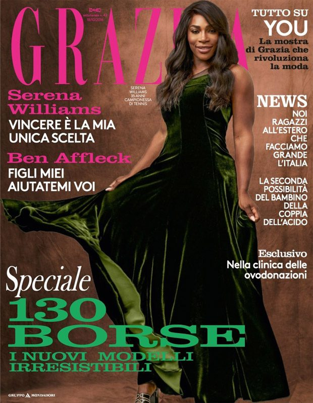 Serena Williams Stars in Grazia Italia Latest Cover Story