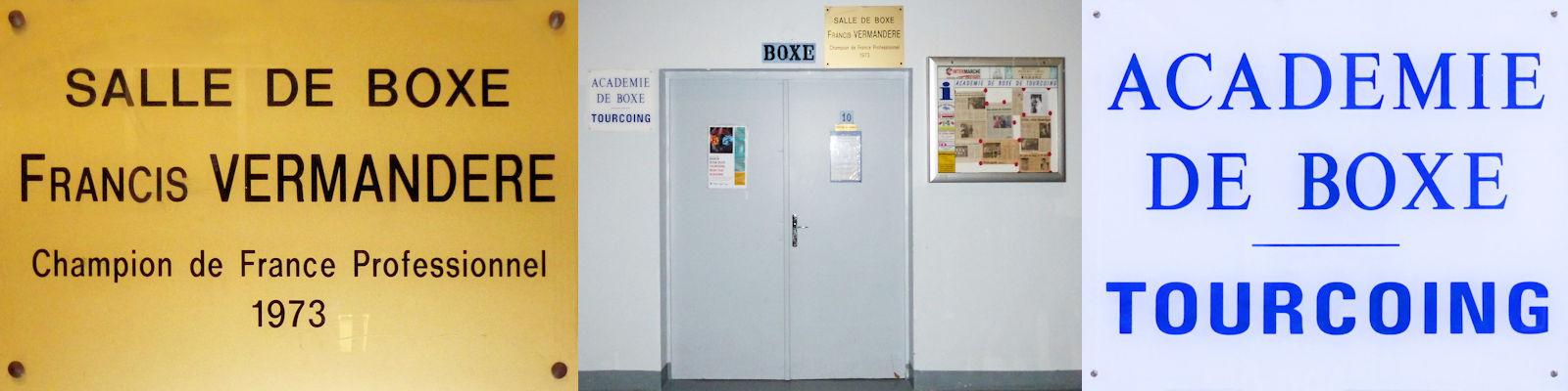 Entrée de la salle de Boxe Vermandere
