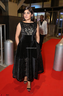 Niveda Thomas Black Sleeveless Cute Dress at 64th Jio Filmfare Awards South 2017 ~  Exclusive 110.JPG