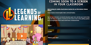 Legends of Learning screen grab