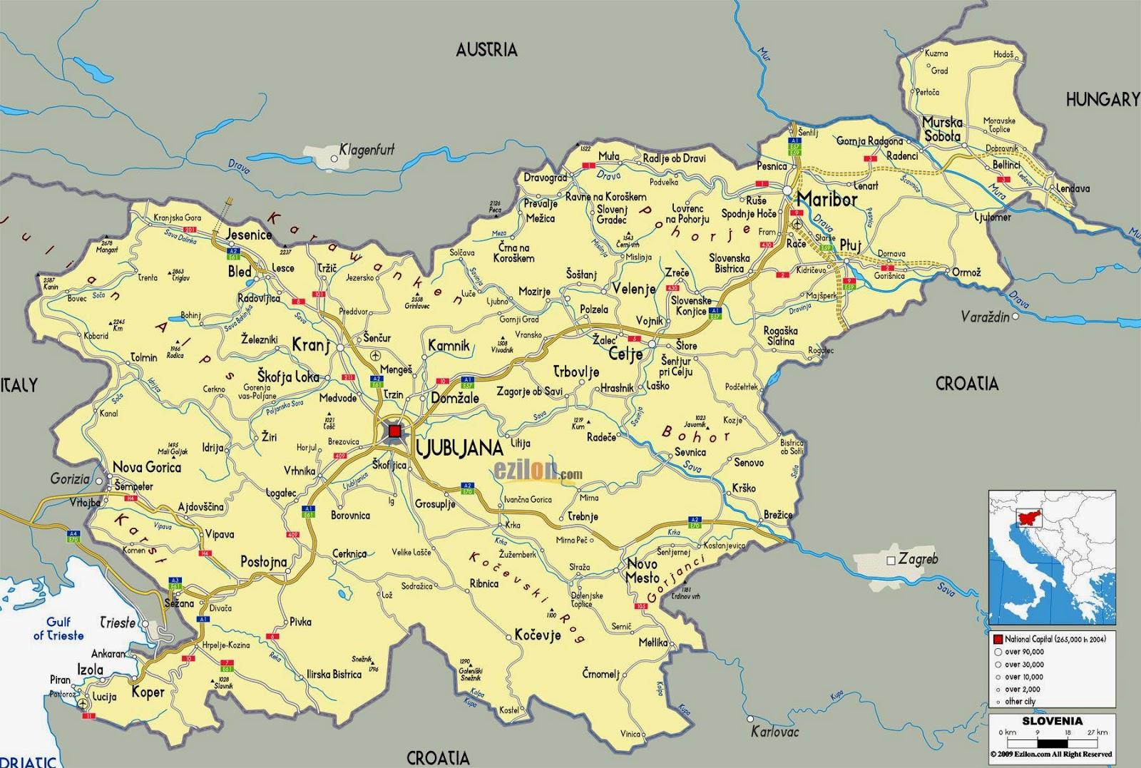 Romania Live Harta Rutiera Slovenia
