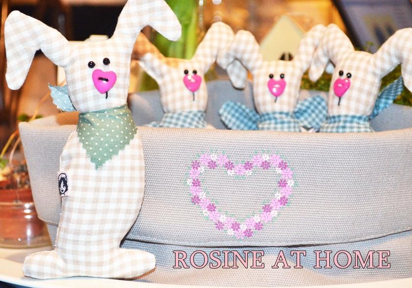 ROSINE at HOME : Eine Rosine näht - Rosinenhäschen mit Schnittmuster