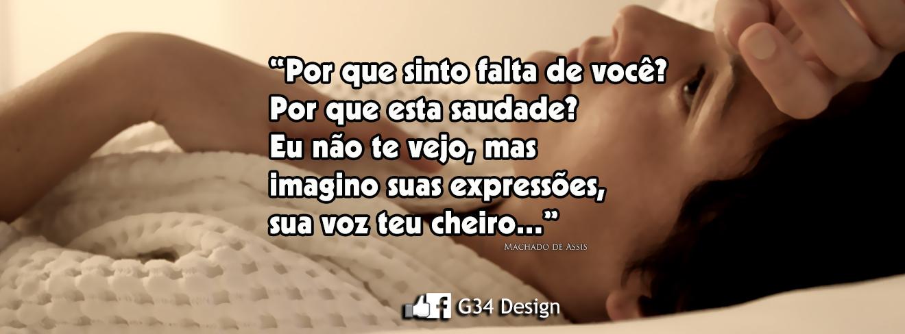 G34 Design Capa Para Facebook Com Frase De Amor Machado De Assis