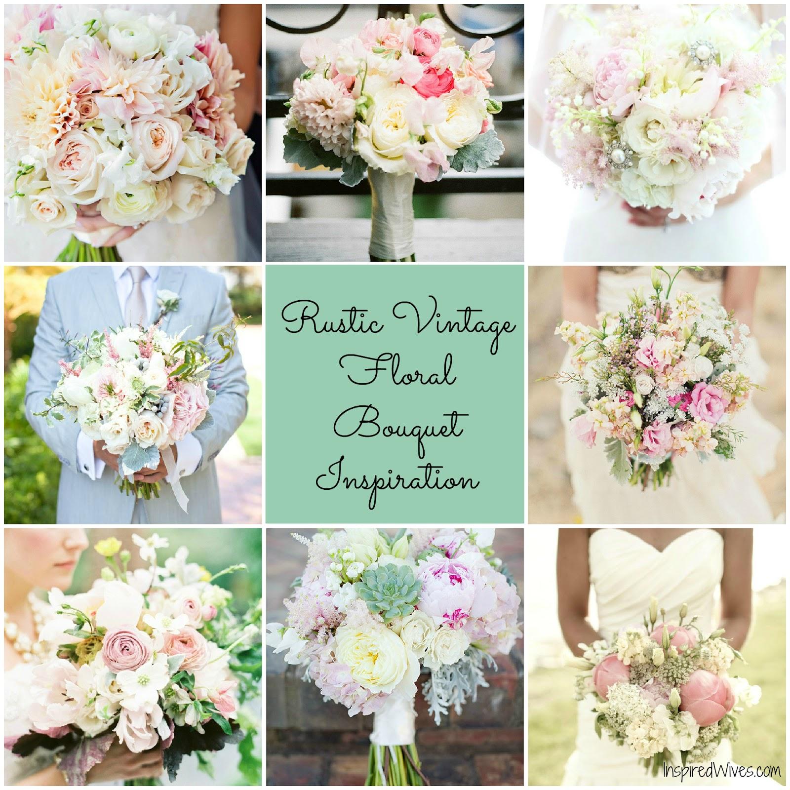 Vintage Flower Arrangements For Wedding: Inspired I Dos: Discussing A Rustic Vintage Inspired