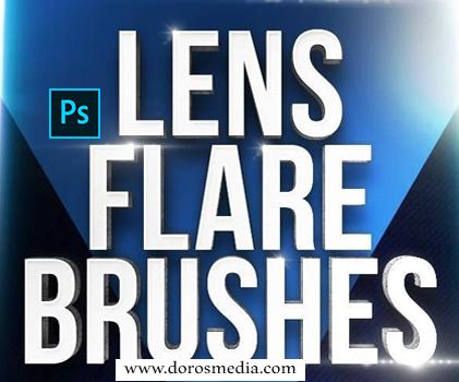 فرض فوتوشوب فرش أضواء مميزة رائعة للأدوبي فوتوشوب لأغراض التصميم المختلفة 30 Lens Flare Brushes for Photoshop
