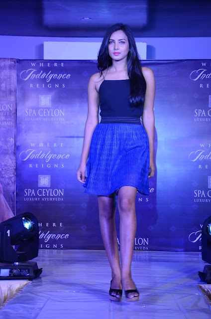 Spa ceylon Luxury Ayurveda Pre launch fashion show held at jubileehills